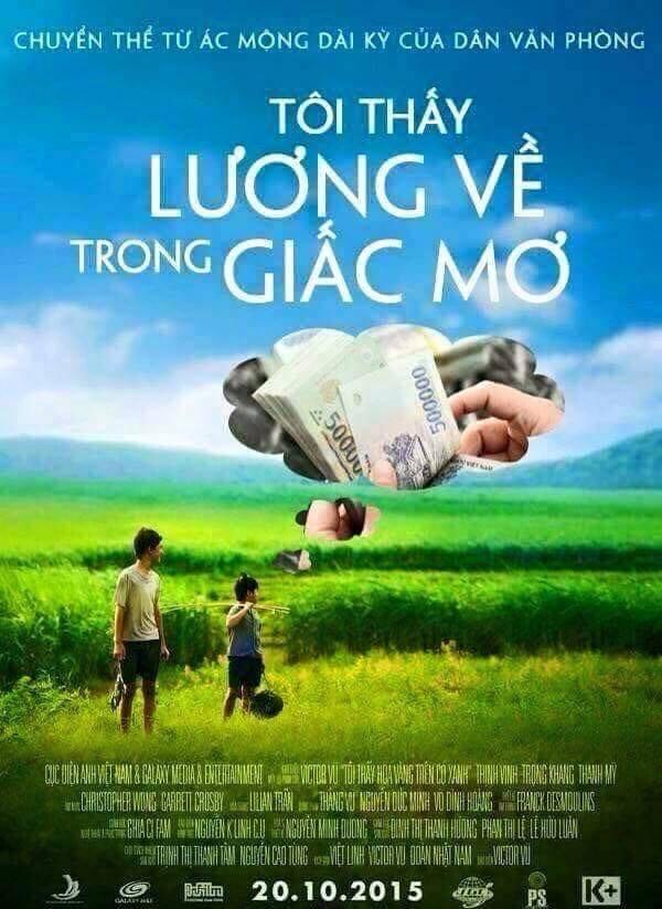 Cư dân mạng chế poster phim 'Tôi thấy hoa vàng trên cỏ xanh' - ảnh 2