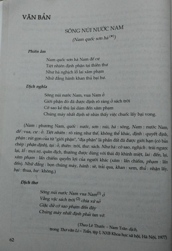 Về bài thơ Nam quốc sơn hà: Tổng chủ biên sách ngữ văn lớp 7 lên tiếng - ảnh 2