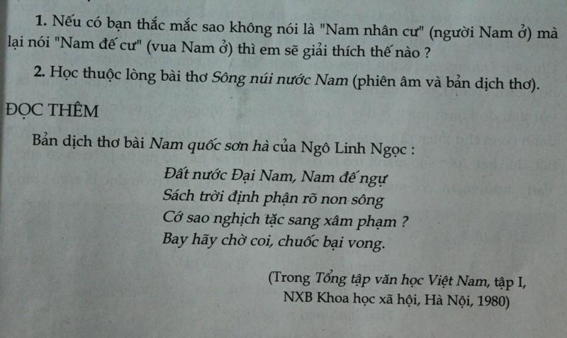Về bài thơ Nam quốc sơn hà: Tổng chủ biên sách ngữ văn lớp 7 lên tiếng - ảnh 3