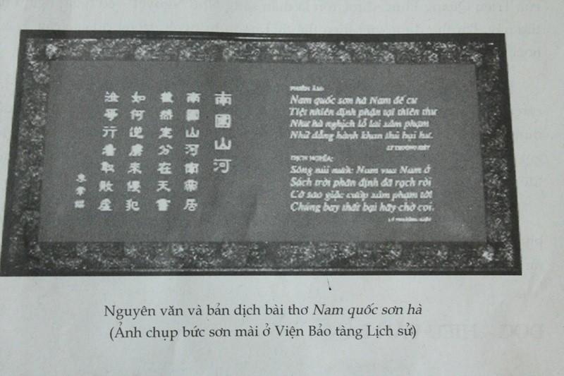 Về bài thơ Nam quốc sơn hà: Tổng chủ biên sách ngữ văn lớp 7 lên tiếng - ảnh 1