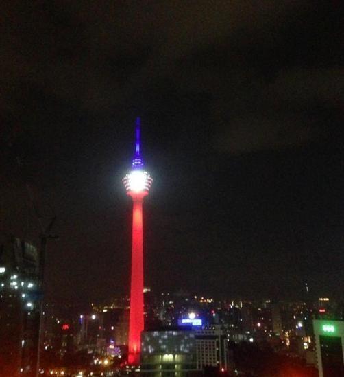 Thế giới đổi màu cờ Pháp tưởng niệm nạn nhân vụ khủng bố  - ảnh 2