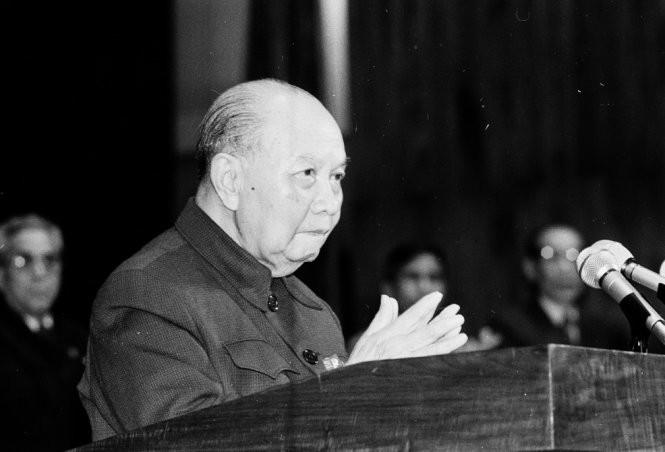 Tổng bí thư Trường Chinh, tháng 12-1986 - Ảnh: TTXVN