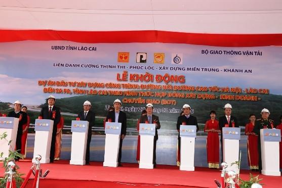 Khởi động dự án đường nối cao tốc Nội Bài-Lào Cai đến Sa Pa - ảnh 1