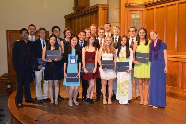 An trong lễ tốt nghiệp chương trình Yale Young Global Scholars.