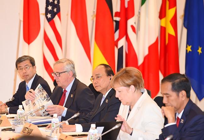 Thủ tướng Nguyễn Xuân Phúc phát biểu tại Hội nghị G7 mở rộng - ảnh 1