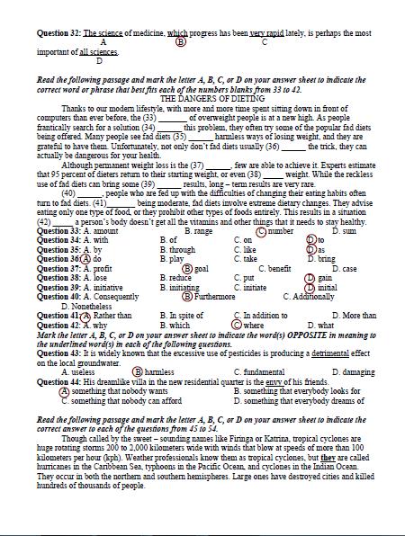 Bài giải gợi ý và đề thi môn Anh văn  - ảnh 11