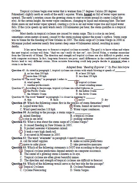 Bài giải gợi ý và đề thi môn Anh văn  - ảnh 12