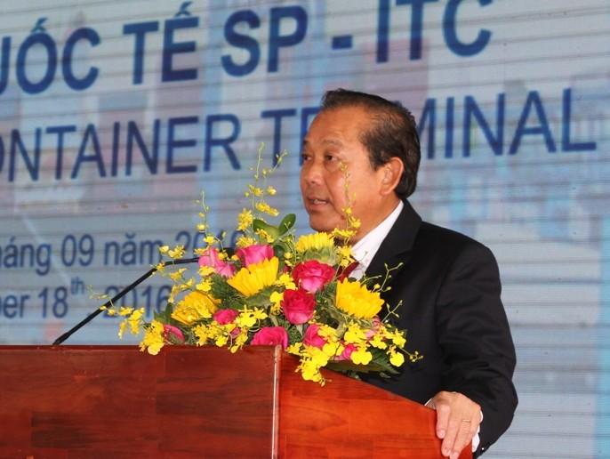 Khai trương cảng container quốc tế trị giá 200 triệu USD tại TP.HCM - ảnh 1