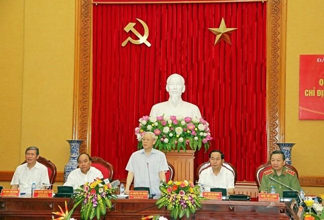 Tổng Bí thư Nguyễn Phú Trọng tham gia Đảng ủy Công an Trung ương  - ảnh 1