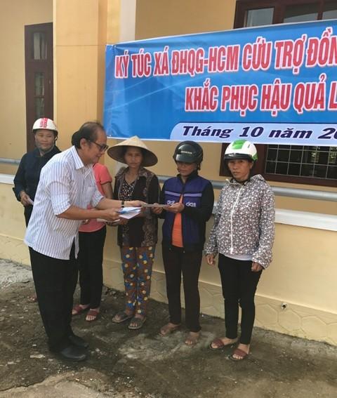 KTX ĐHQG TP.HCM góp hơn 400 triệu ủng hộ miền Trung - ảnh 1