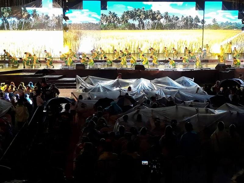 Nghệ sĩ và khán giả đội mưa xem live show Việt Hương - ảnh 1