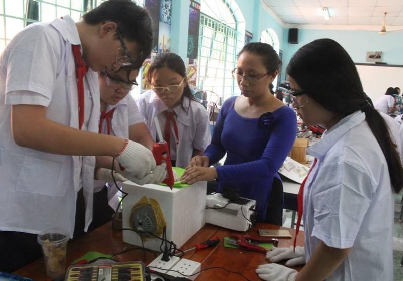'Choáng' với phòng thực hành STEM của trường Lê Quý Đôn - ảnh 1