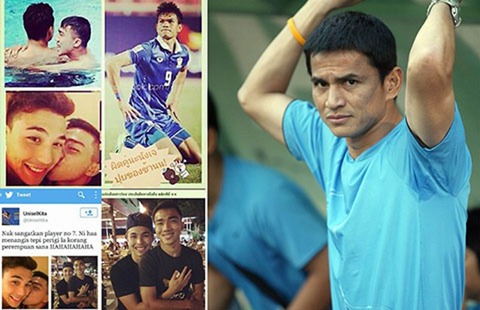Hai tuyển thủ Thái Lan… yêu nhau - ảnh 1