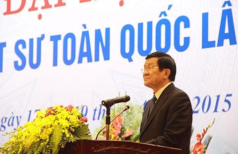Chủ tịch nước Trương Tấn Sang: 'Phát huy vai trò của luật sư ngay từ khi điều tra' - ảnh 1