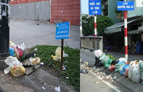 Đổ rác bừa bãi giữa phố - ảnh 1