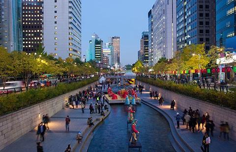 Biến dòng nước bẩn thành tiểu cảnh của Seoul - ảnh 1