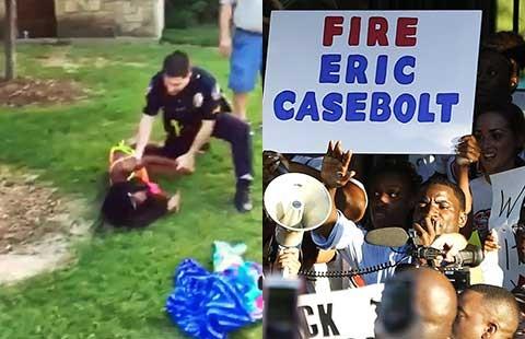 Biểu tình phản đối cảnh sát quật thiếu niên - ảnh 1