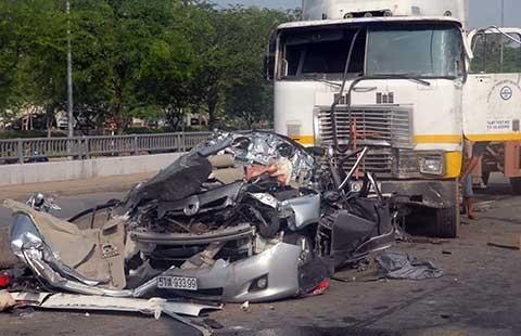 Tai nạn do xe container: Tăng gần 250% - ảnh 1