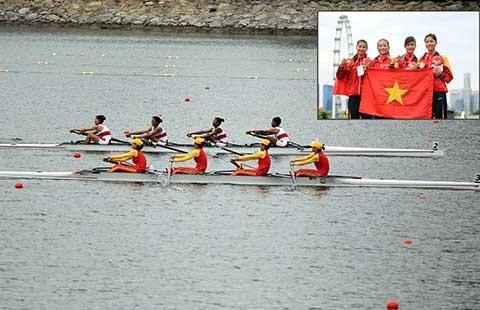 Tổng hợp ngày thi đấu 14-6 SEA Games 28: Ngày vàng của rowing - ảnh 1
