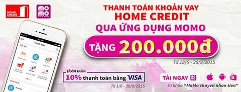 Thanh toán khoản vay Home Credit qua ứng dụng MoMo - ảnh 1