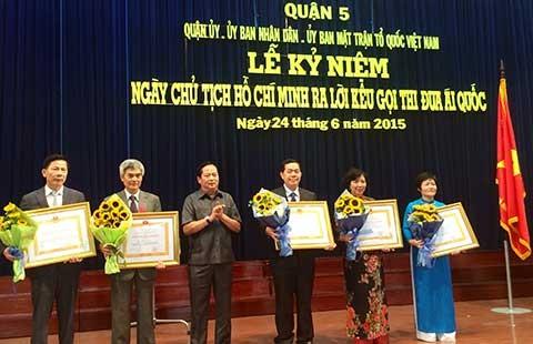 Quận 5 đón nhận huân chương Độc lập hạng Ba - ảnh 1