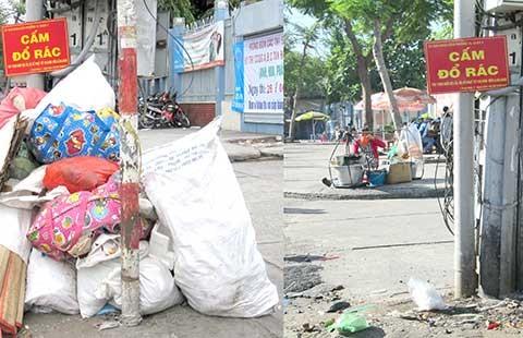 Đã dọn đống rác đổ bừa bãi trước trường học - ảnh 1