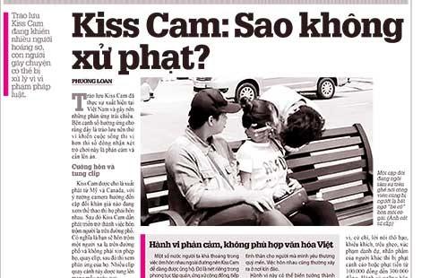 Dừng ngay Kiss Cam phản cảm! - ảnh 1