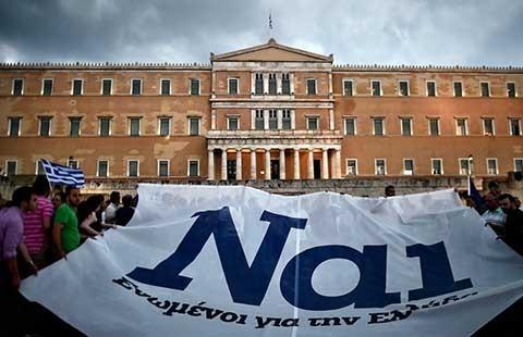 Thế phân tranh trưng cầu ý dân Hy Lạp - ảnh 1