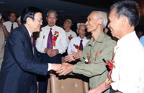 Chủ tịch nước dự lễ kỷ niệm ngày thành lập TNXP - ảnh 1