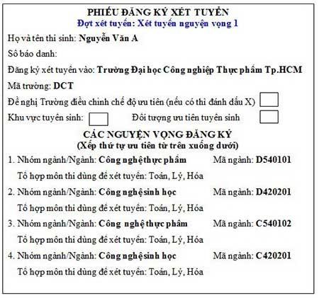 12 điều cần biết khi đăng ký xét tuyển ĐH, CĐ - ảnh 3