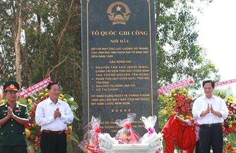 Thủ tướng dự lễ dựng bia di tích Sở Chỉ huy các lực lượng vũ trang - ảnh 1