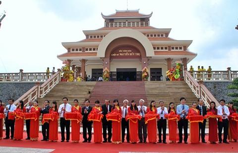 Khánh thành Khu lưu niệm luật sư Nguyễn Hữu Thọ - ảnh 1
