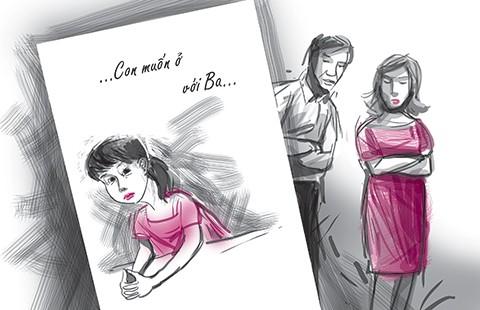 Lá thư của con gái chín tuổi xin được ở với ba - ảnh 1