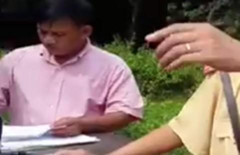 Vụ clip 'Bị dập môi vì đòi CSGT giải thích' : Người mặc thường phục là ai? - ảnh 1