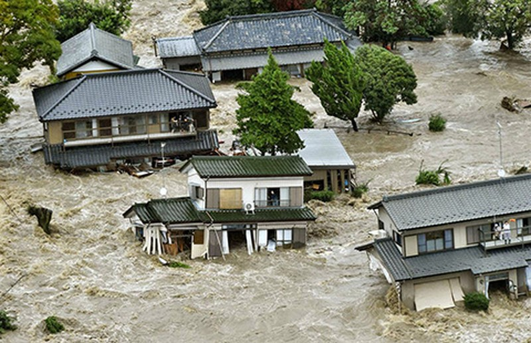 Lũ lụt nghiêm trọng ở Nhật - ảnh 1