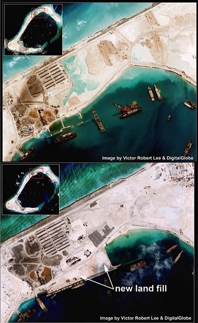 Trung Quốc tiếp tục xây sân bay trên đá Subi - ảnh 1