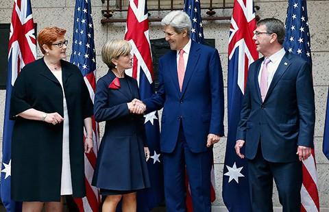 Mỹ và Úc rất quan tâm đến Trung Quốc xây đảo nhân tạo - ảnh 1