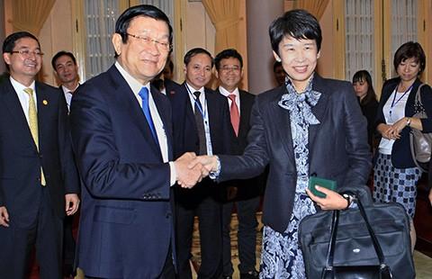 Chủ tịch nước Trương Tấn Sang tiếp đoàn doanh nghiệp Nhật - ảnh 1