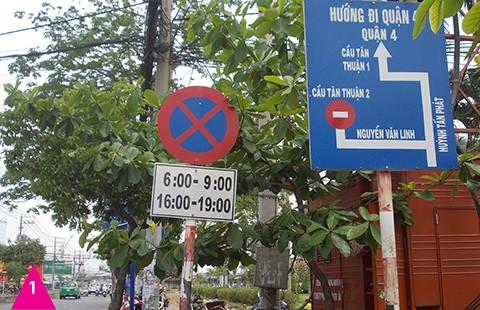 Biển báo giao thông gây ngơ ngác - ảnh 1