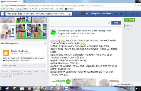 Đừng vội tin 'thuốc gia truyền' bán trên mạng - ảnh 2