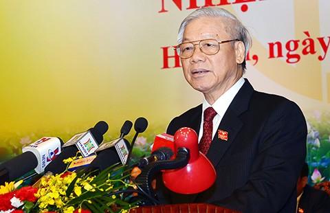 Tổng Bí thư Nguyễn Phú Trọng: Phát triển Hà Nội ngày càng giàu đẹp, văn minh, hiện đại - ảnh 1