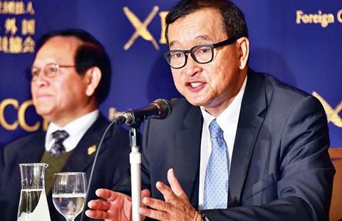 Campuchia phát lệnh bắt, Sam Rainsy đang ở Hàn Quốc - ảnh 1