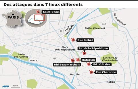 Những điểm nóng 'bão táp khủng bố' giữa Paris - ảnh 1