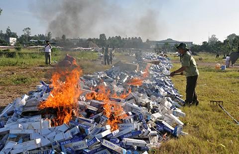 Chính phủ mạnh tay với thuốc lá lậu - ảnh 1