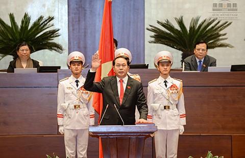 Tân Chủ tịch nước Trần Đại Quang: 'Nguyện trung thành với Tổ quốc, nhân dân' - ảnh 1