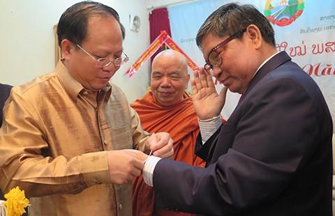 Lãnh đạo TP.HCM chúc mừng tết cổ truyền Lào và Campuchia - ảnh 1