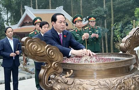 Chủ tịch nước Trần Đại Quang dâng hương tại Khu di tích K9 - ảnh 1