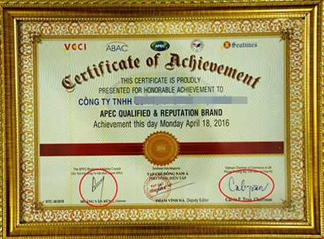 Chứng nhận 'Giải thưởng APEC' là tờ giấy lộn? - ảnh 2