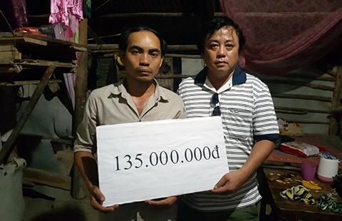 Gần 500 triệu đồng giúp đỡ gia đình có ba con bị chết đuối - ảnh 1