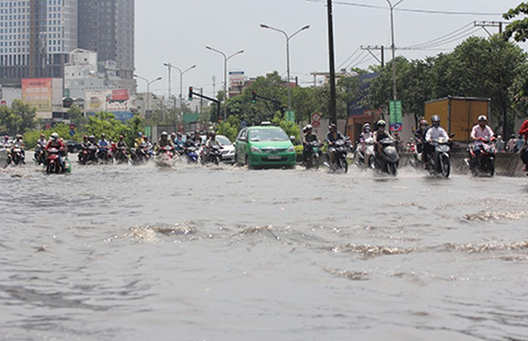 40 tuyến đường Sài Gòn sẽ ngập khi mưa - ảnh 1